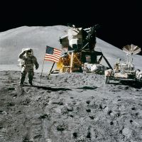 Apollo 15 Flag Salute by GeneralTate