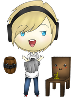Request: Chibi PewDiePie for ~Ask-SkullyTheBro by FamousPenguin