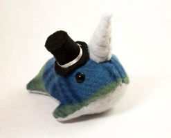Plaid Narwhal with Top Hat by BeeZee-Art