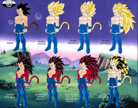Rigor - Saiyan Transformations by SouthernDesigner