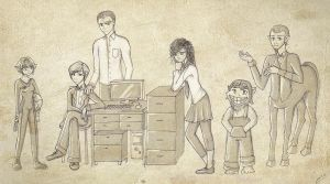 The Artemis Fowl Gang. by Ryuutsu