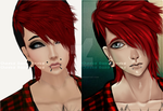 Hael II (before-after) by RazorCheeks