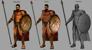 king leonidas 3d game model by cavalars