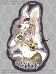 Antique White (Paintless Dog Badge) by soulspoison