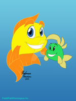 Freddi Fish and Luther by ColorfulArtist86