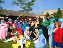 Yu Yu Hakusho Group Shot 2 - Colossalcon 2013 by EndOfGreatness
