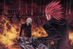 Dissidia Aces cycle 3 Round 2: Kadaj Vs Axel by Nick-Ian