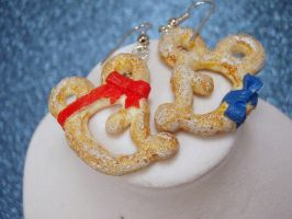 Mickey and Minnie Mouse Pretzels Earrings by PoniesOfDOOOM