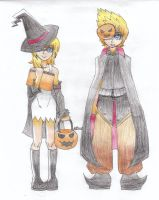 Roxas and Namine - Halloween by NaitomeIya