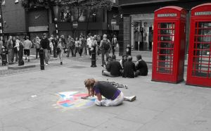 street painter by arcignogatto