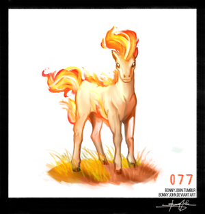 Ponyta!  Pokemon One a Day!