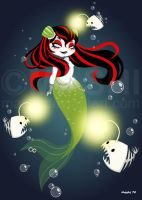 Goth Mermaid Art Jam by mashi