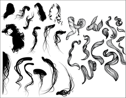 Hair Vectors by keildude