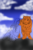 HHA-SUMMONING TIGER WIP by Hellsingswinged
