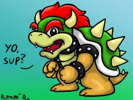 Chibi Bowser - Digital by TheGreenDragonGirl
