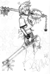 Roxas-Oblivion and Oathkeeper- by Maulsypaulsy