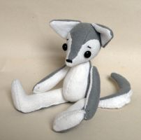 Wolfie plushie (pattern/instructions for sale) by Naoru