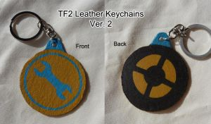 TF2 Leather Keychains Ver. 2 by leighanief