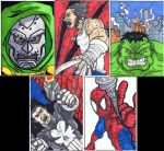 First Sketch Cards by Marvin000