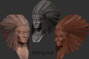 Chief Sitting Bull by mrajeev1