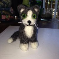 Needle felted cat by lollitaS