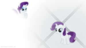 Filly Rarity Wallpaper \=/ Re-Make by Silentmatten