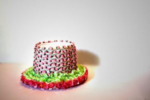 Grassy Candy Pink Mini Top Hat by AngryRedHead
