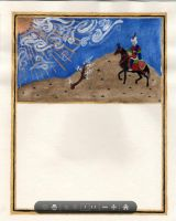 Horse Scroll - illumination only by WyndRose