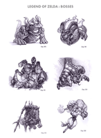 Legend of Zelda : Bosses by WEAPONIX