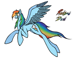 I tried to Rainbow Dash by HoloSnipe