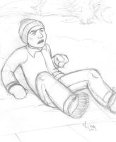 Stan Pushed down in the Snow by spacefille