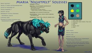 Maria-Nightpelt Model Sheet by FablePaint