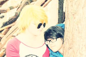 Dave Strider and John Egbert ! 01 by AwesomeShuri