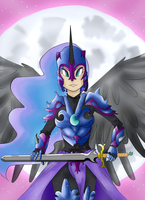 nightmare moon human by knight-alui