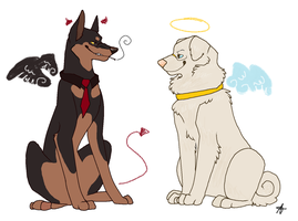Dog Omens by FourDirtyPaws