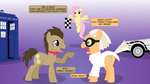 Doctor Whooves vs. Doc Brown by mandydax