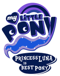 Fanart - MLP. My Little Pony Logo - Princess Luna by jamescorck
