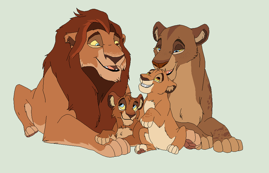 Lion family adopts CLOSED by Lummiki