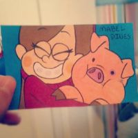 Mabel and Pig by ExoticParadox