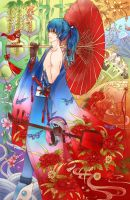 DMMd -Aoba: Blue in red by ericajc