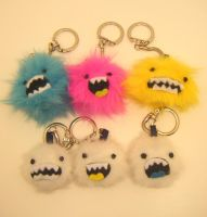 MONSTER AND YETI KEYCHAINS by loveandasandwich