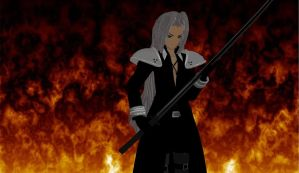 MMD Sephiroth by KingdomHeartsNickey