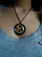 hunger games necklace by pnuewave