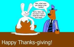 A Sam and Max Thanksgiving by StrongBrush1