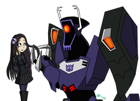 Andy and Shockwave by KiaraLPhoenix
