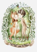 The Fox and the Fawn by ThreeLeaves
