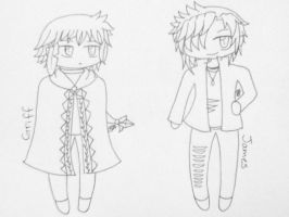 Tabby's Chibi collection uncolored 5 by candy-spazz-tabby