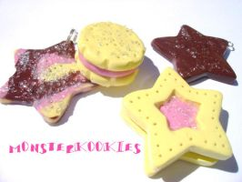 Star Sugar Cookies by monsterkookies