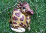 Polymer Clay Giraffe Ornament sculpture by mindsend