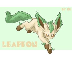 Jumping Leafeon by Reina-Kitsune